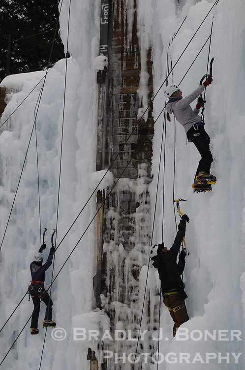 Ice festival at Teton Ice Park