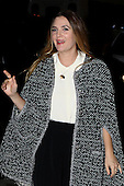 Drew Barrymore arrives for a book signing at Barnes and Noble