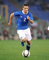 Fussball International, Nationalmannschaft   EURO 2012 Play Off, Qualifikation, Italien - Uruguay      15.11.2011 Christian Maggio (Italien)