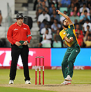 Imran Tahir of South Africa during the 2016 T20 International Series match between South Africa and Australia in Kingsmead Stadium Durban, Kwa-Zulu Natal on 04 March 2016©Muzi Ntombela/Backpagepix