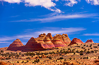North teepees, Coyote Buttes North, Paria Canyon-Vermillion Cliffs Wilderness Area, Utah-Arizona border, USA