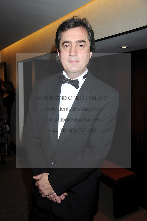 Writer SEBASTIAN BARRY at the 2008 Costa Book Awards held at the Intercontinental Hotel, Hamilton Place, London on 27th January 2009.