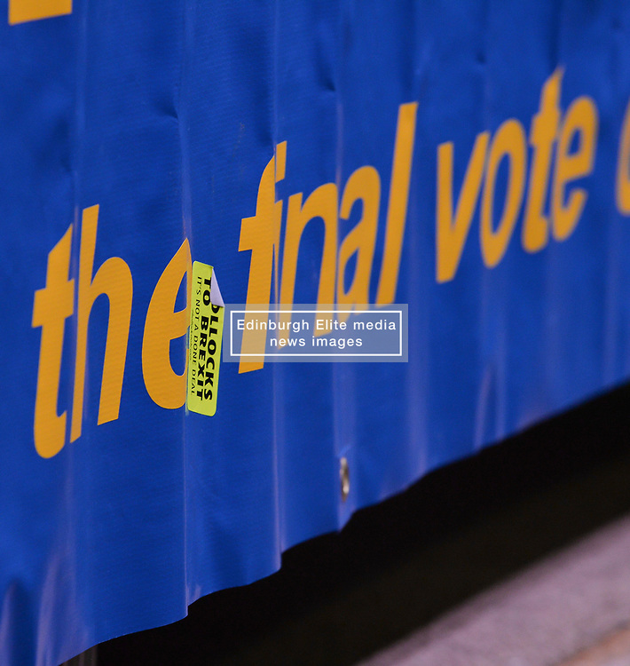 Supporters for a People's Vote on Brexit held a Rally for Europe in Edinburgh on Saturday. Prominent speakers included<br /> <br /> © Dave Johnston / EEm
