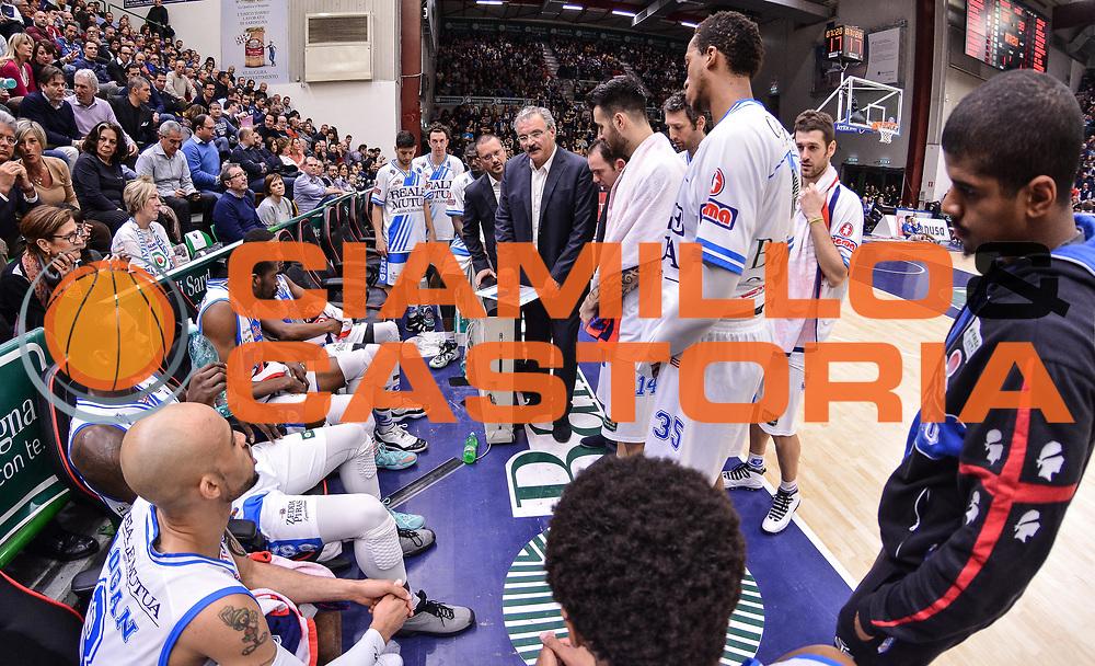 DESCRIZIONE : Campionato 2014/15 Serie A Beko Dinamo Banco di Sardegna Sassari - Upea Capo D'Orlando<br /> GIOCATORE : Romeo Sacchetti<br /> CATEGORIA : Allenatore Coach Time Out<br /> SQUADRA : Dinamo Banco di Sardegna Sassari<br /> EVENTO : LegaBasket Serie A Beko 2014/2015<br /> GARA : Dinamo Banco di Sardegna Sassari - Upea Capo D'Orlando<br /> DATA : 22/03/2015<br /> SPORT : Pallacanestro <br /> AUTORE : Agenzia Ciamillo-Castoria/L.Canu<br /> Galleria : LegaBasket Serie A Beko 2014/2015