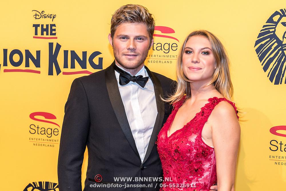 NLD/Scheveningen/20161030 - Premiere musical The Lion King, Tim Douwsma en partner Jessie Jazz Vuijk