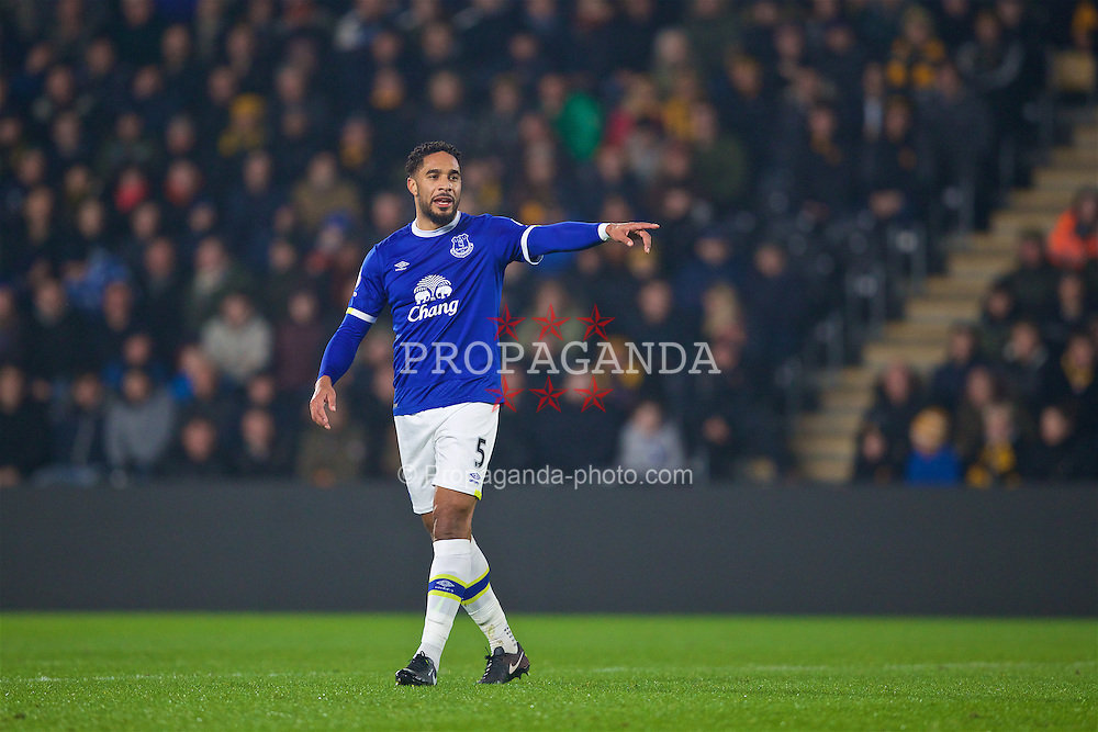 KINGSTON-UPON-HULL, ENGLAND - Friday, December 30, 2016: Everton's Ashley Williams in action against Hull City during the FA Premier League match at the KCOM Stadium. (Pic by David Rawcliffe/Propaganda)