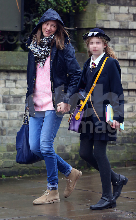 jools oliver out with their eldest daughter poppy honey rosie oliver in london
