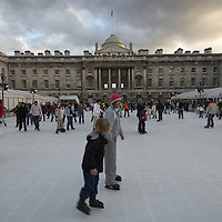Ice skating at Somerset House, London
