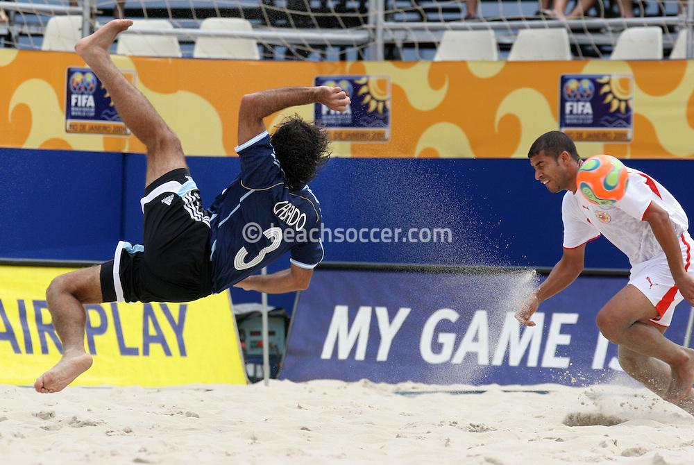 Footbal-FIFA Beach Soccer World Cup 2006 -  Oficial Games BHR x ARG - Casado- Brazil - 04/11/2006.<br />Mandatory Credit: FIFA/Ricardo Ayres