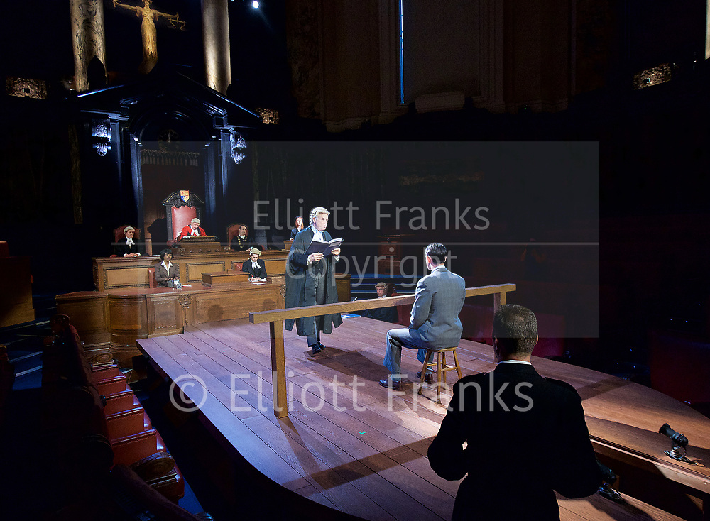 Witness for the Prosecution by Agatha Christie <br /> at London County Hall, Southbank, London, Great Britain <br /> press photocall <br /> 20th October 2017 <br /> <br /> directed by Lucy Bailey <br /> <br /> Leonard Vole as Jack Mullen <br /> <br /> <br /> <br /> David Yelland as Sir Wilfrid Robarts <br /> <br /> <br /> <br /> <br /> <br /> <br /> Photograph by Elliott Franks <br /> Image licensed to Elliott Franks Photography Services