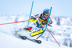 17.02.2019, Aare, SWE, FIS Weltmeisterschaften Ski Alpin, Slalom, Herren, 1. Lauf, im Bild Alexis Pinturault (FRA) // Alexis Pinturault of France in action during his 1st run of men's Slalom of FIS Ski World Championships 2019. Aare, Sweden on 2019/02/17. EXPA Pictures © 2019, PhotoCredit: EXPA/ Dominik Angerer