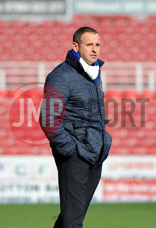 Peterborough United Manager, Dave Robertson - Photo mandatory by-line: Paul Knight/JMP - Mobile: 07966 386802 - 11/04/2015 - SPORT - Football - Swindon - The County Ground - Swindon Town v Peterborough United - Sky Bet League One
