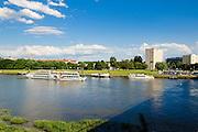 Elbe, Dampfer, Johannstadt, Dresden, Sachsen, Deutschland. .river Elbe, steamer, Johannstadt, Dresden, Germany
