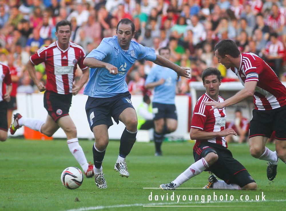 Gary Harkins runs at the Sheffield United defence - Sheffield United v Dundee, pre season friendly at Bramall Lane<br /> <br />  - &copy; David Young - www.davidyoungphoto.co.uk - email: davidyoungphoto@gmail.com