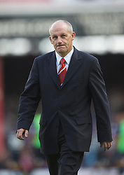BRISTOL, ENGLAND - Saturday, August 7, 2010: Bristol City's Steve Coppell walks off dejected following his side's 3-0 defeat by Millwall during the League Championship match at Ashton Gate. (Pic by: David Rawcliffe/Propaganda)