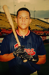Miguel Cabrera at 17 playing for his hometown team, the Aragua Tigers.