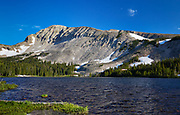 View of Mitchell Lake, an alpine lake located in the Indian Peaks Wilderness west of Boulder, Colorado