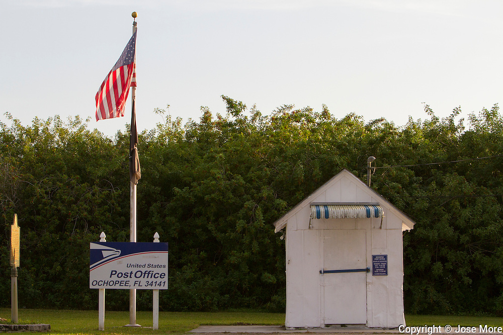 Ochopee post office is the smallest post office in the United  States on the Tamiami Trail in South Florida. <br /> Photography by Jose More