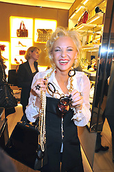 AMANDA ELIASCH at a reception in aid of Children in Crisis held at the Roger Vivier store, 188 Sloane Street, London on 19th March 2009.