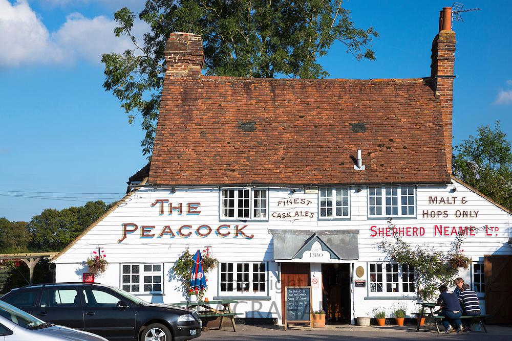 The Peacock Inn a Shepherd Neame Ltd quaint traditional public house at Goudhurst near Hawkhurst in Kent, England, UK