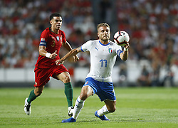 September 10, 2018 - Lisbon, Italy - Portugal v Italy - UEFA Nations League.Pepe of Portugal and Ciro Immobile of Italy at Estadio da Luz in Lisbon, Portugal on September 10, 2018. (Credit Image: © Matteo Ciambelli/NurPhoto/ZUMA Press)