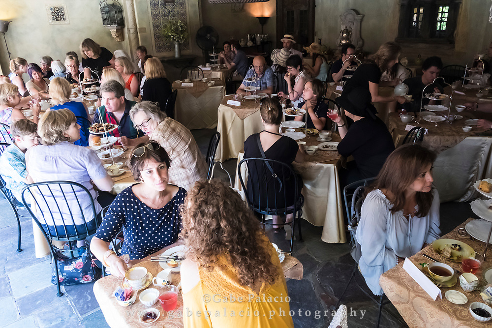 Afternoon Tea in the Summer Dining Room of the Rosen House at Caramoor in Katonah New York on July 9, 2017. <br /> (photo by Gabe Palacio)