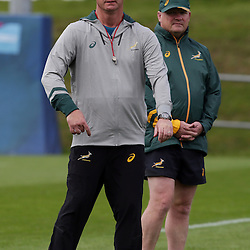 BIRMINGHAM, ENGLAND - SEPTEMBER 23: Heyneke Meyer (Head Coach) of South Africa during the South African national rugby team training session at University of Birmingham on September 23, 2015 in Birmingham, England. (Photo by Steve Haag)