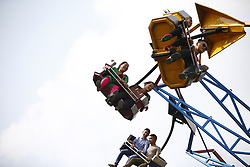 May 6, 2017 - Kathmandu, Nepal - Nepalese people ride at an amusement park in Kathmandu, Nepal on Saturday, May 06, 2017. (Credit Image: © Skanda Gautam via ZUMA Wire)