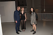 Barbora Bediova (L) and Alistair Guy; Evangeline Ling, Undressed: A Brief History of Underwear<br /> At the V&A , South Kensington. London. 13 April 2016