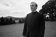 Christian Brothers .1972..11.08.1972..08.11.1972..11th August 1972..At St Marys,Christian Brothers College,Bray, the Christian Brothers prepare for their final profession before they move to the different provincial houses throughout the country...Portrait of Bro James Brehony of Ardsallagh,Ballymote,Co Sligo in the grounds of the college for Christian Brothers in Bray.