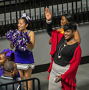 Houston ISD Trustee Wanda Adams waves to the crowd during a grand opening ceremony at Delmar Fieldhouse, February 10, 2017.