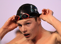 Duncan Scott after winning the Men's 100m Freestyle final during day three of the 2017 British Swimming Championships at Ponds Forge, Sheffield.