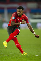 March 21, 2019 - Vienna, Austria - David Alaba of Austria kicked the ball during the UEFA European Qualifiers 2020 match between Austria and Poland at Ernst Happel Stadium in Vienna, Austria on March 21, 2019  (Credit Image: © Andrew Surma/NurPhoto via ZUMA Press)