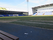 Frozen pitch during the EFL Sky Bet League 1 match between Oldham Athletic and Southend United at Boundary Park, Oldham, England on 24 February 2018. Picture by Graham Holt.