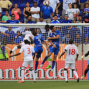 Goalmouth action during the El Salvador Vs Trinidad and Tobago CONCACAF Gold Cup group B football match at Red Bull Arena, Harrison, New Jersey. USA. 8th July 2013. Photo Tim Clayton