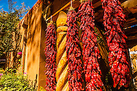 Ristras (drying red chile pepper pods), El Pinto Restaurant and Cantina, Albuquerque, New Mexico USA pods), El Pinto Restaurant and Cantina, Albuquerque, New Mexico USA
