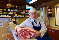Kevin Vickers who runs the village butchers (Charters) with his wife Susan.