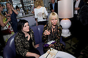 CHARLOTTE LONG; VIRGINIA BATES, Launch of Stephanie Theobald's book' A Partial Indulgence'  drinks provided by Ruinart champage nd Snow Queen vodka. The Artesian at the Langham, 1c Portland Place, Regent Street, London W1