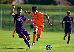 LENDAVA, SLOVENIA - Tuesday, October 17, 2017: Liverpool's Curtis Jones during the UEFA Youth League Group E match between NK Maribor and Liverpool at Športni Park. (Pic by David Rawcliffe/Propaganda)