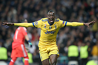 Juventus Football Club's Blaise Matuidi celebrates goal during Champions League Quarter-Finals 2nd leg match. April 11,2018. (ALTERPHOTOS/Acero)
