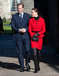 Prince William, accompanied by Miss Catherine Middleton, visit the University of St Andrews, Fife, as Patron of the 600th Anniversary Appeal.