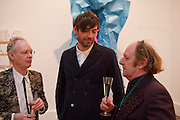 ANTHONY FAWCETT; ALEX JAMES;  RICHARD WILSON, Royal Academy of Arts Summer Exhibition Preview Party 2011. Royal Academy. Piccadilly. London. 2 June <br /> <br />  , -DO NOT ARCHIVE-© Copyright Photograph by Dafydd Jones. 248 Clapham Rd. London SW9 0PZ. Tel 0207 820 0771. www.dafjones.com.