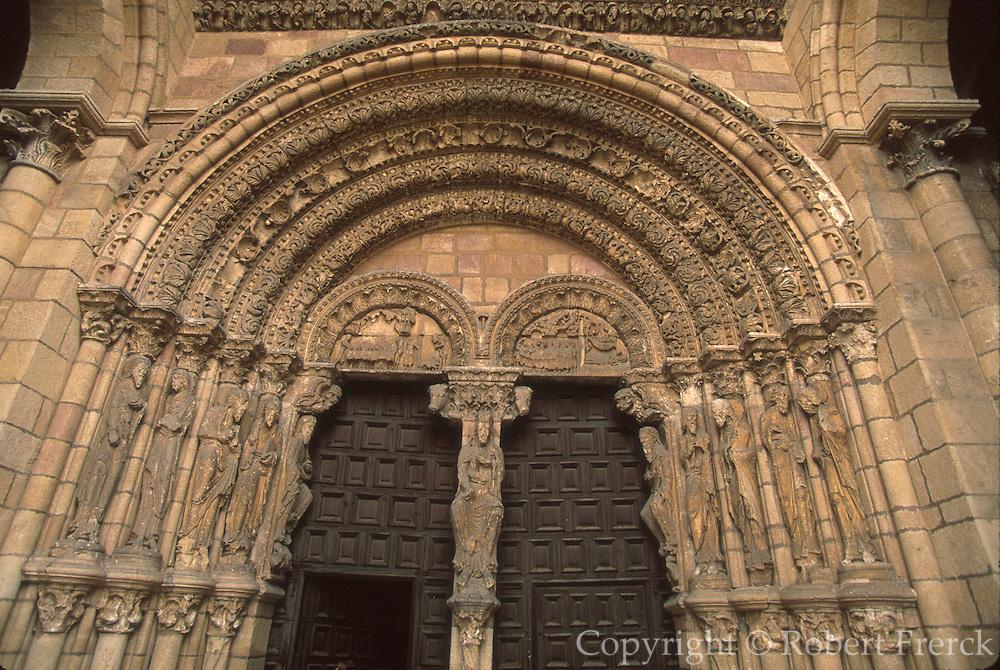 SPAIN, CASTILE, AVILA Romanesque San Vicente Basilica