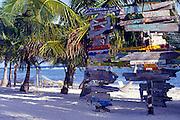 Divers signs, Cayman Brac, Cayman Islands, British West Indies,