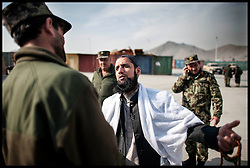 Imam Asim Hafiz meets  Afghan Army Troops on a visit to  Camp Qargha in Kabul, 19th January 2014 . Picture by Andrew Parsons / Parsons Media Ltd