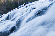 Bond Falls on the Middle Branch of the Ontonagon River at Bond Falls State Scenic Site near Watersmeet Michigan in the Upper Peninsula.