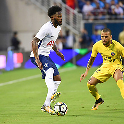 (L-R) Georges Kevin Nkoudou of Spurs and Daniel Dani Alves of PSG during the International Champions Cup match between Paris Saint Germain and Tottenham Hotspur on July 22, 2017 in Orlando, United States. (Photo by Dave Winter/Icon Sport)