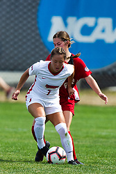 NORMAL, IL - August 10:  Hannah Mueller during a nonconference exhibition women's soccer match between the Southern Illinois Edwardsville Cougars and the Illinois State Redbirds August 10 2019 on Adelaide Street Field in Normal IL (Photo by Alan Look)