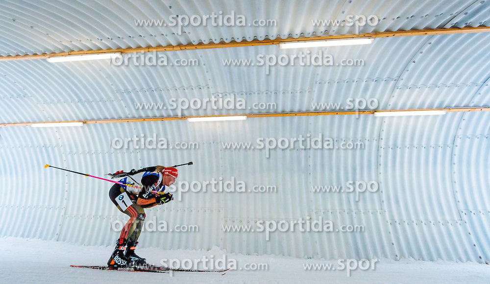 17.02.2017, Biathlonarena, Hochfilzen, AUT, IBU Weltmeisterschaften Biathlon, Hochfilzen 2017, Staffel Damen, im Bild Franziska Hildebrand (GER) // Franziska Hildebrand of Germany during Womens Relay of the IBU Biathlon World Championships at the Biathlonarena in Hochfilzen, Austria on 2017/02/17. EXPA Pictures © 2017, PhotoCredit: EXPA/ JFK