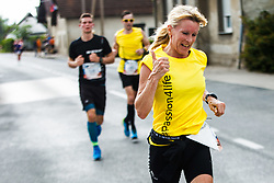 Passio4Life  runner during Wings for Life world marathon in Ljubljana, Slovenia on 7th of May, 2017 .Photo by Grega Valancic / Sportida